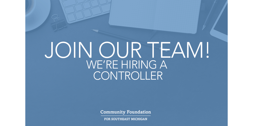 Join our team! We're hiring a controller