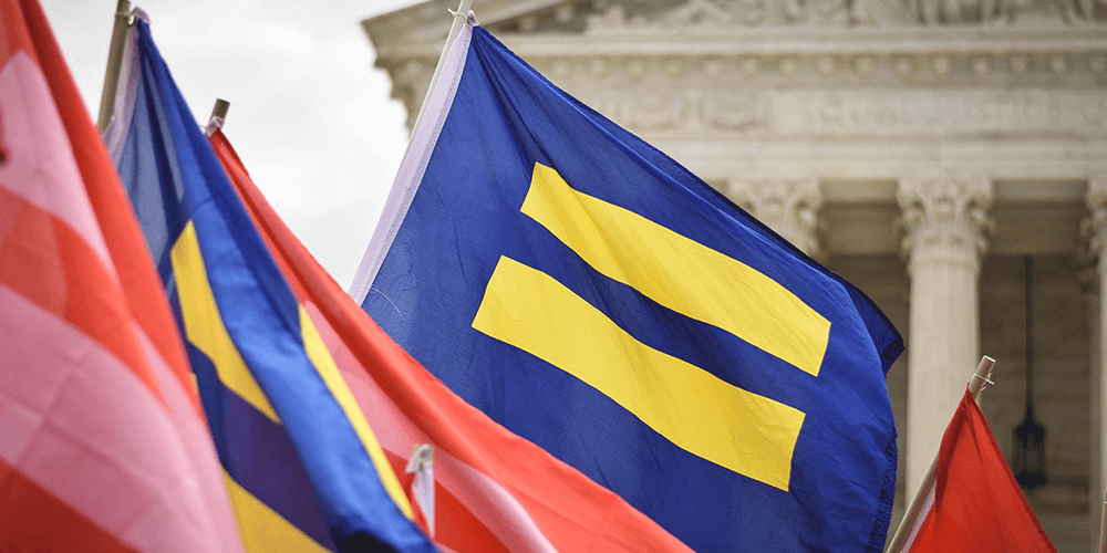 LGBTQ+ Inclusion Under the Law Flags