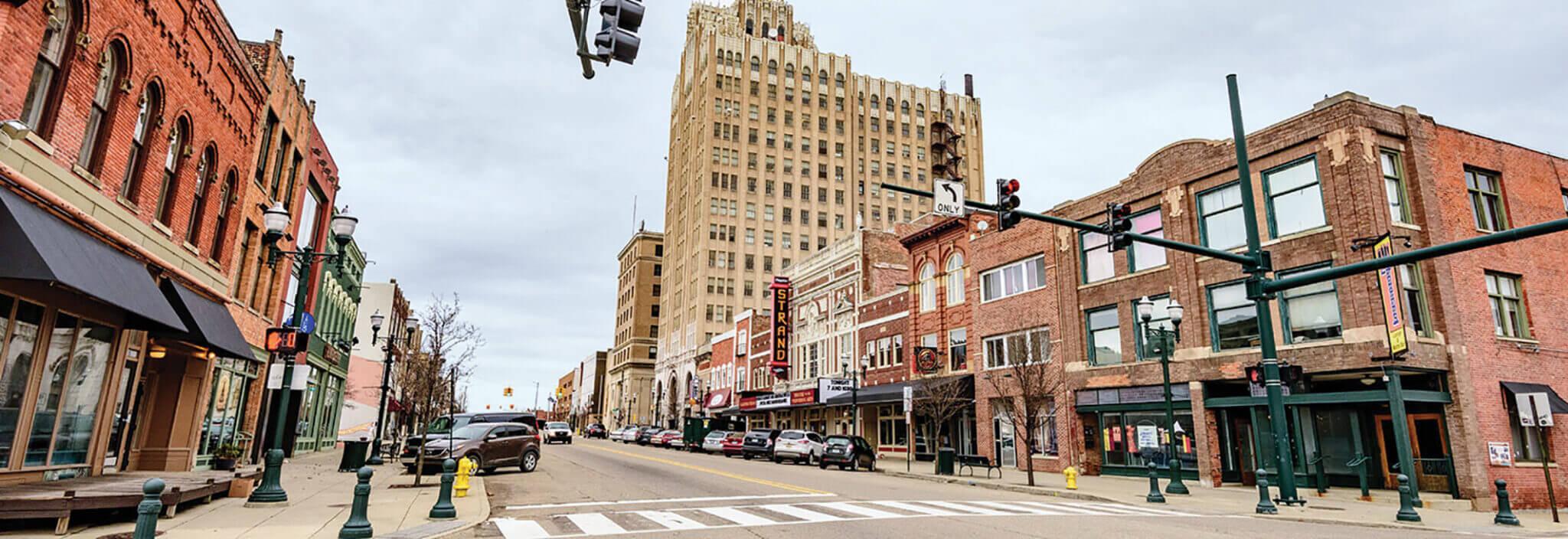 Downtown Pontiac Michigan