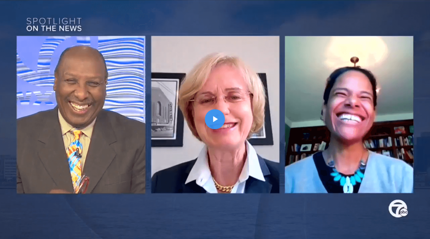 Mariam Noland, Chuck Stokes, and Melanca Clark speak virtually